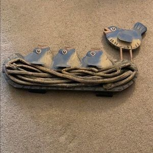 Blue birds and babies in nest 2/$30